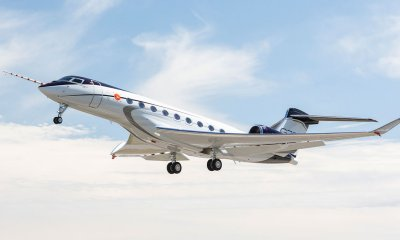 Gulfstream G700 first flight February 14 2020 registration N700GA