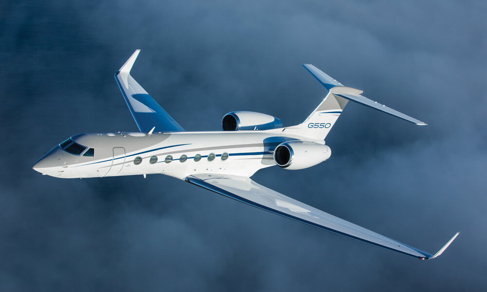 The final Gulfstream G550 is scheduled for delivery in 2021. Credit: Gulfstream