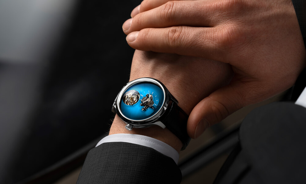 Endeavour Cylindrical Tourbillion with Funky Blue fumé dial.