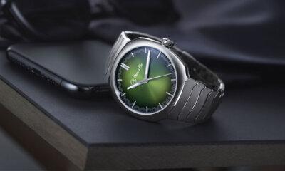 H Moser Streamliner Centre Seconds Matrix Green Watch