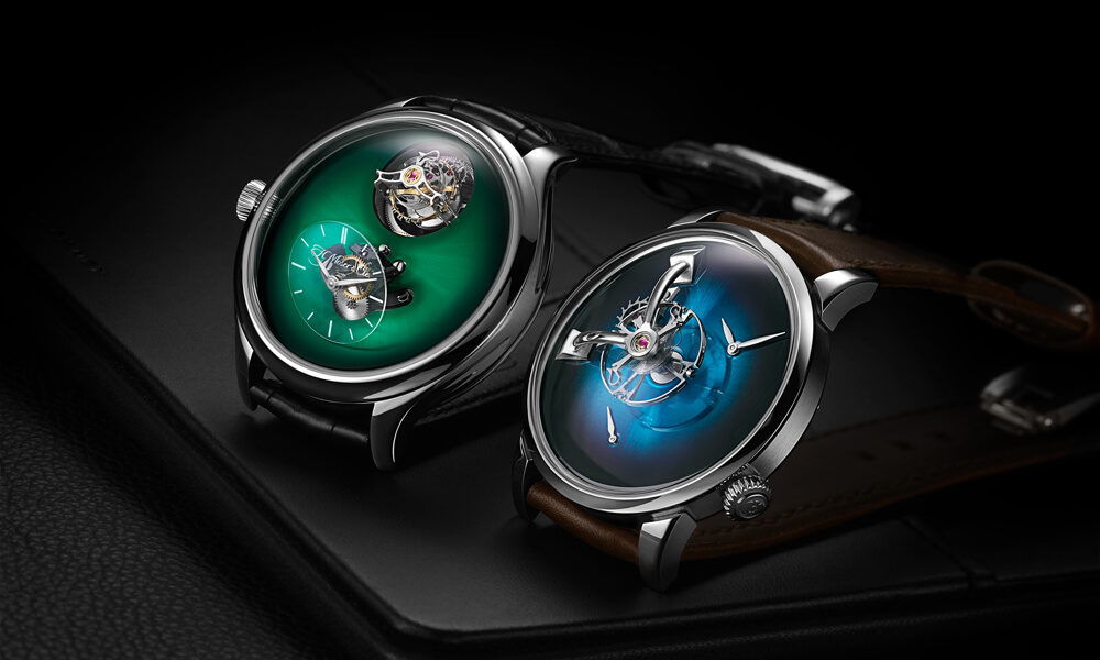 The Endeavour Cylindrical Tourbillion H.Moser x MB&F (left) and LM1010 MB&F x H.Moser & Cie(right)