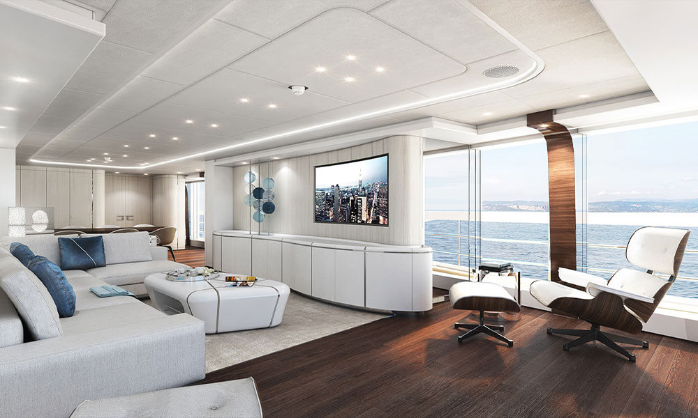 Heesen Yachts Hybrid Electra Saloon Interior