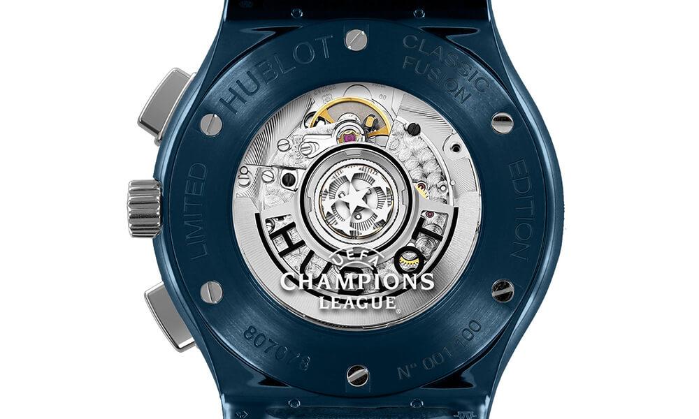 Hublot Classic Fusion AeroFusion Chronograph UEFA Champions League watch case back