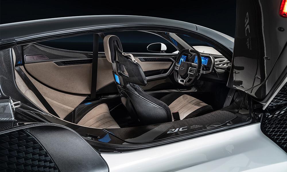 Hypercar Czinger 21C specification interior for Geneva International Motor Show 2020