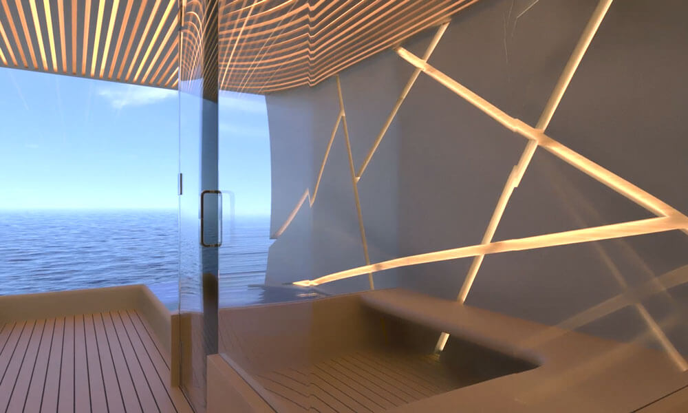 Isaac Burrough Design Kiwa Yacht interior design features