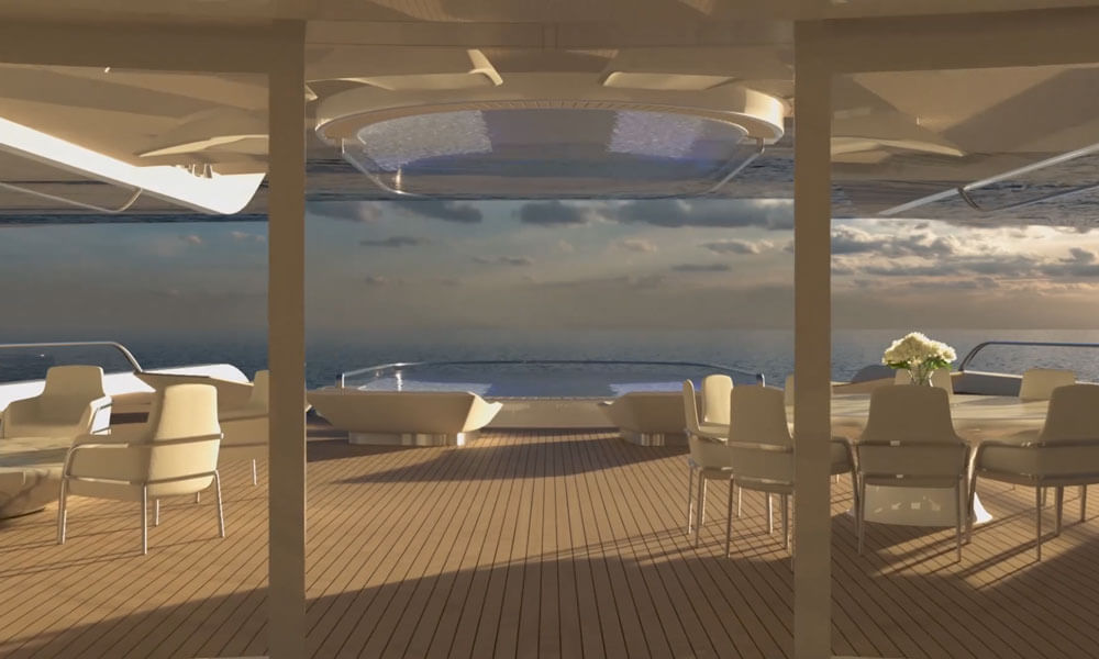 Isaac Burrough Design Kiwa yacht's expansive decks
