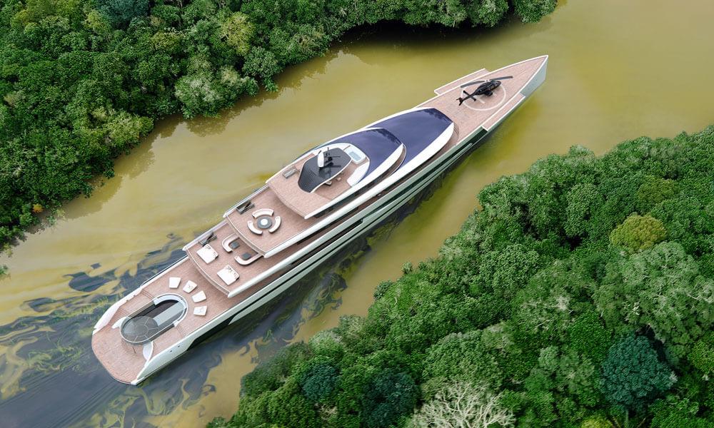 Isaac Burrough Design 110m Kiwa megayacht yacht concept