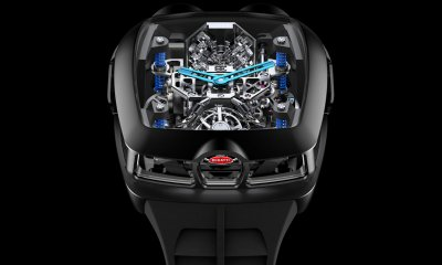 Jacob and Co Bugatti Chiron Tourbillon Watch with 16 Cylinders Priced at $280,000
