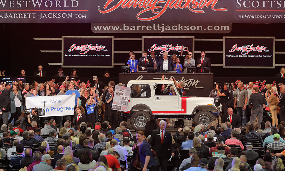 1981 Jeep redonated multiple times at Barrett-Jackson Scottsdale Auction 2020