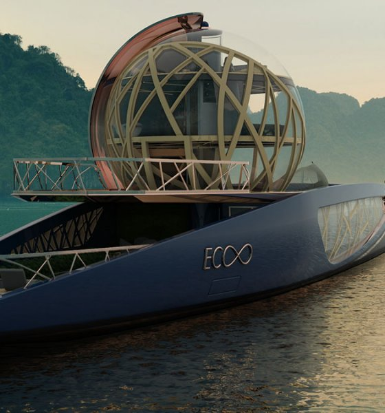 Julien Cadro's Ecoo superyacht design