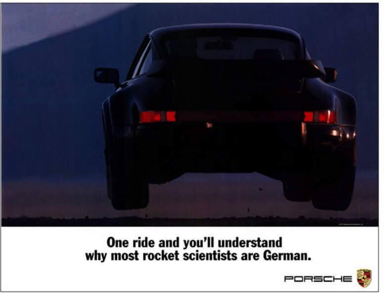 Jumping Porsche Vintage Poster by Jeff Zwart