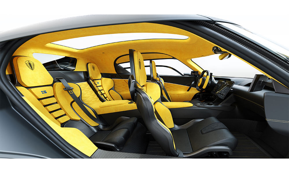 Koenigsegg Gemera Interior view dashboard seats