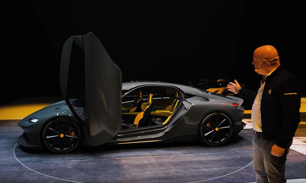 Koenigsegg Gemera presented by Christian von Koenigsegg at Geneva 2020