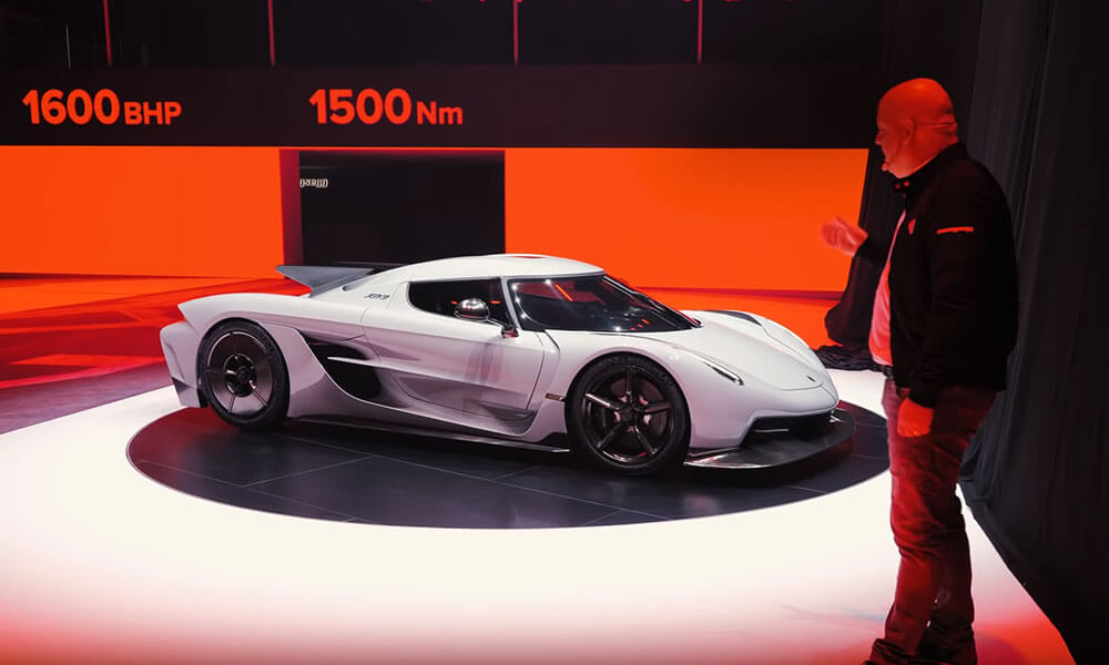 Koenigsegg Jesko Absolut presented by Christian von Koenigsegg at Geneva 2020