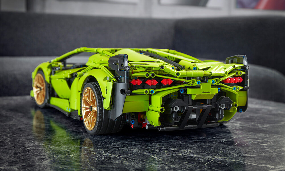 LEGO technic Lamborghini Sian Rear View