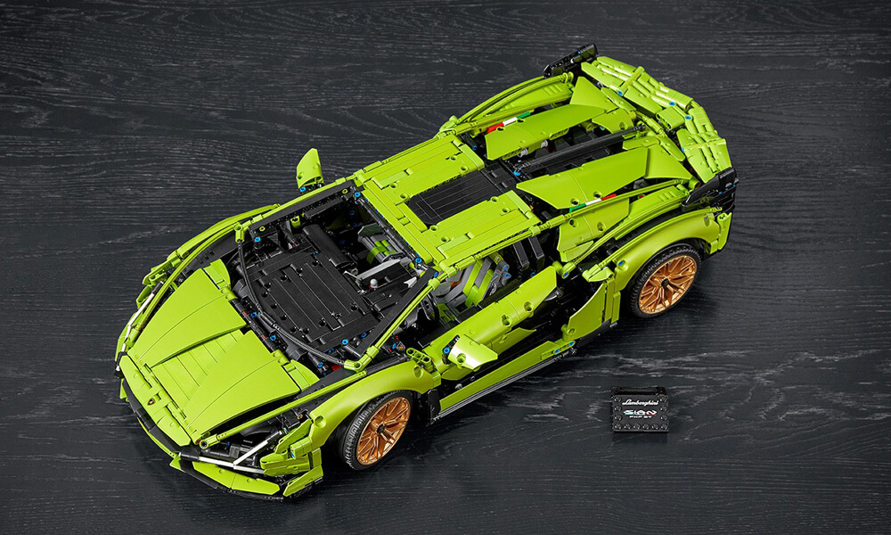 LEGO technic Lamborghini Sian top view