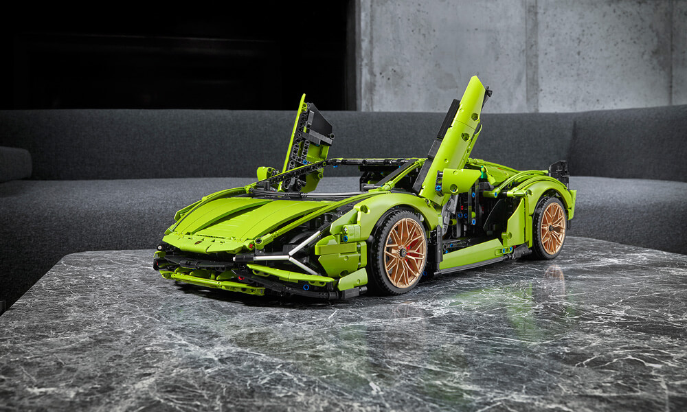 Lego technic Lamborghini Sian doors up