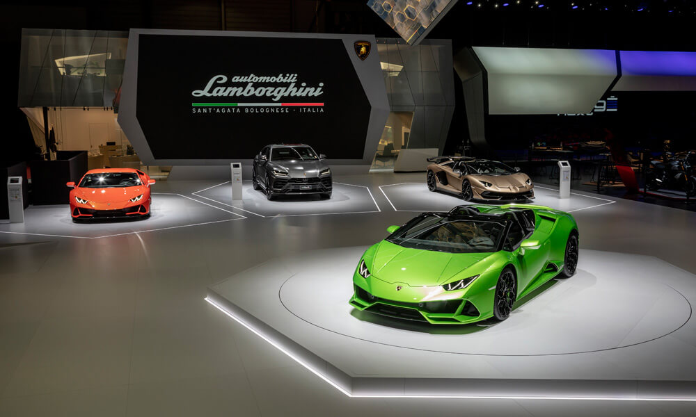 The Lamborghini Aventador SVJ Roadster First Revealed At The Geneva Motor Show. Credit: Lamborghini