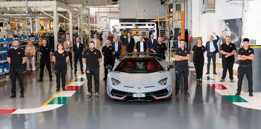 Lamborghini Celebrates 10,000th Aventador