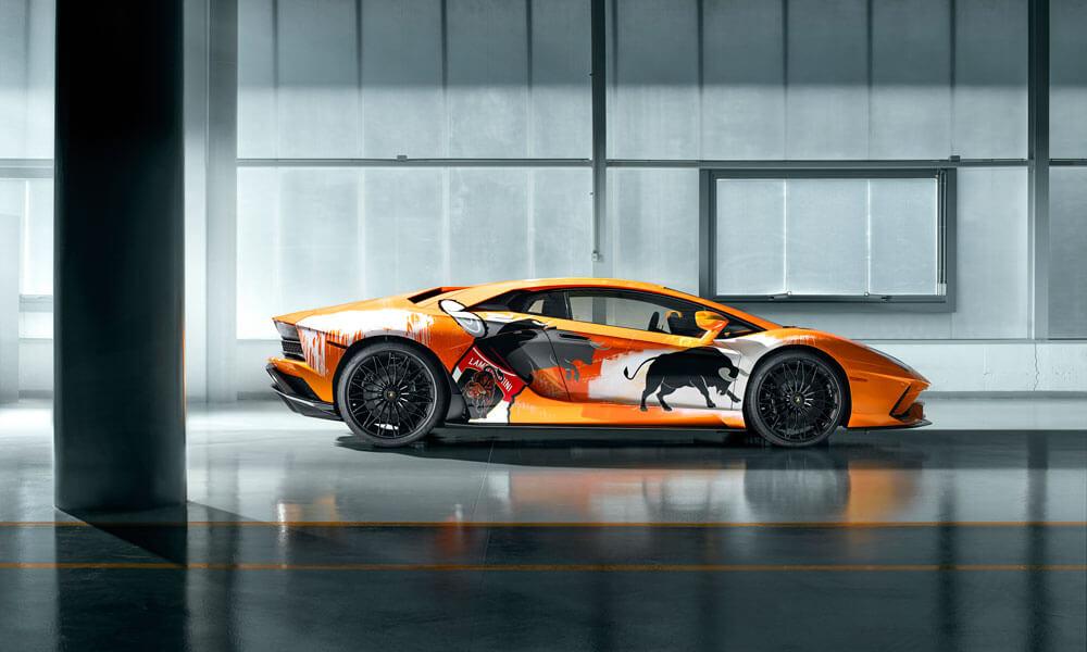 Lamborghini Aventador Skyler Grey Street Artist