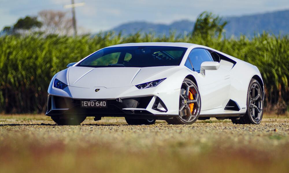 The new front splitter design of the Lamborghini Huracan Evo. Credit: Billionaire Toys