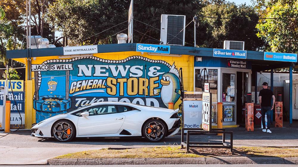 The Lamborghini Huracan Evo in Bianco Icarus Metallic paint. Credit: Billionaire Toys