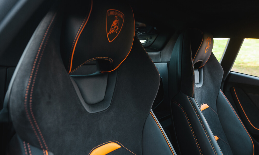 The embroidered Lamborghini Headrest shields are an option. Credit: Billionaire Toys