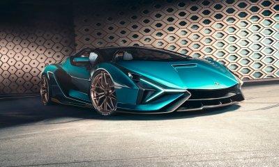 Lamborghini Sian Roadster Hybrid Blu Uranas Centro Stile