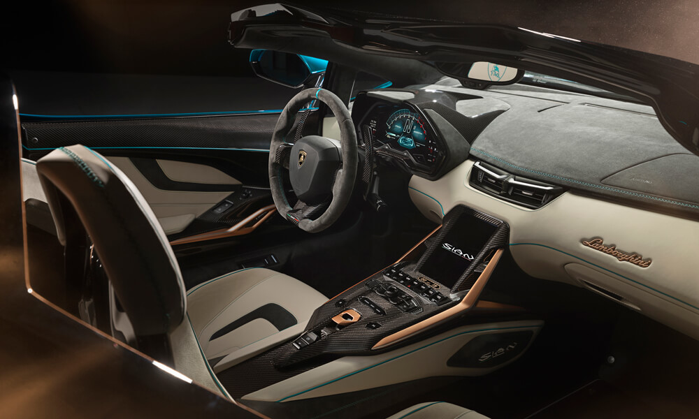 Lamborghini interior customisation