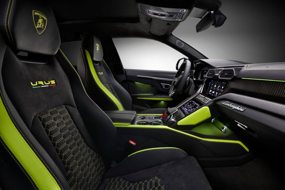 Lamborghini Urus Graphite Interior Seats