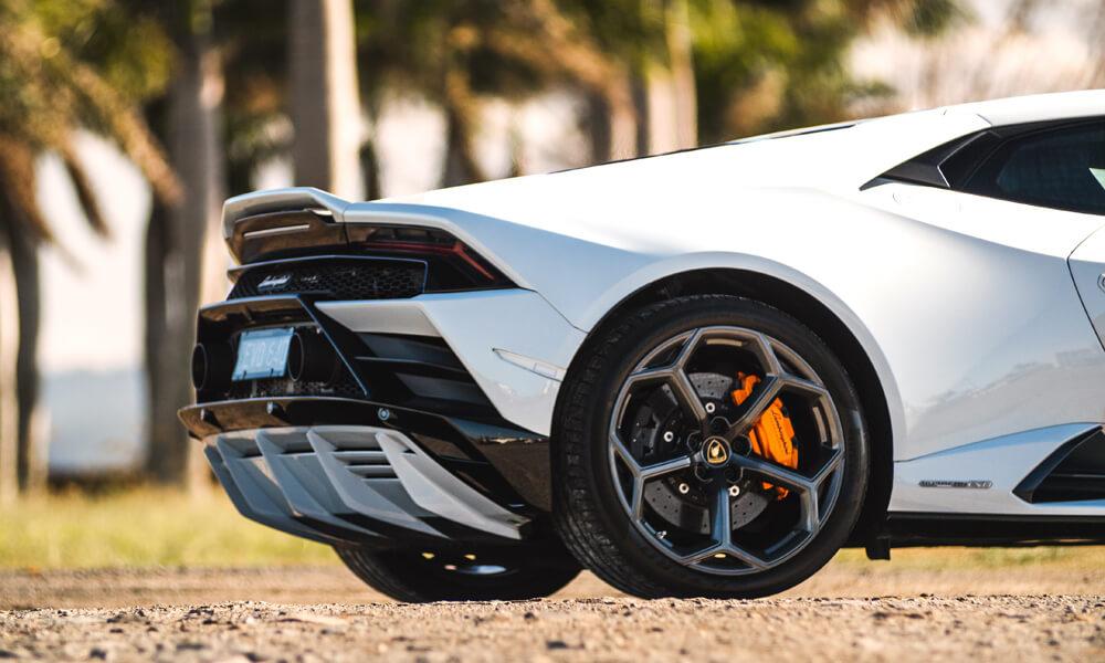 The Lamborghini Huracan Evo's new wing and rear diffuser design. Credit: Billionaire Toys