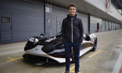 Lando Norris McLaren Elva Test Drive