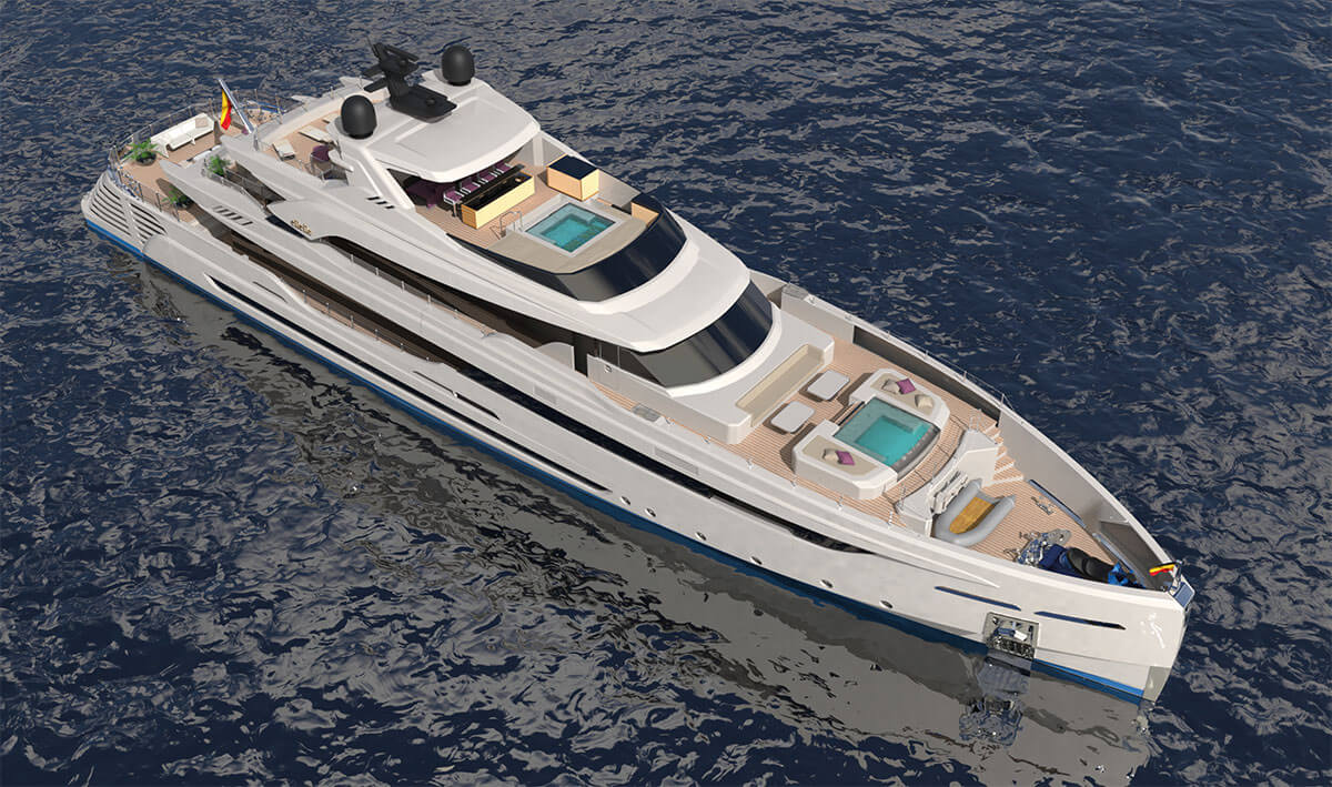 Rossinavi M/Y LeL designed by Luca Dini Design - top view