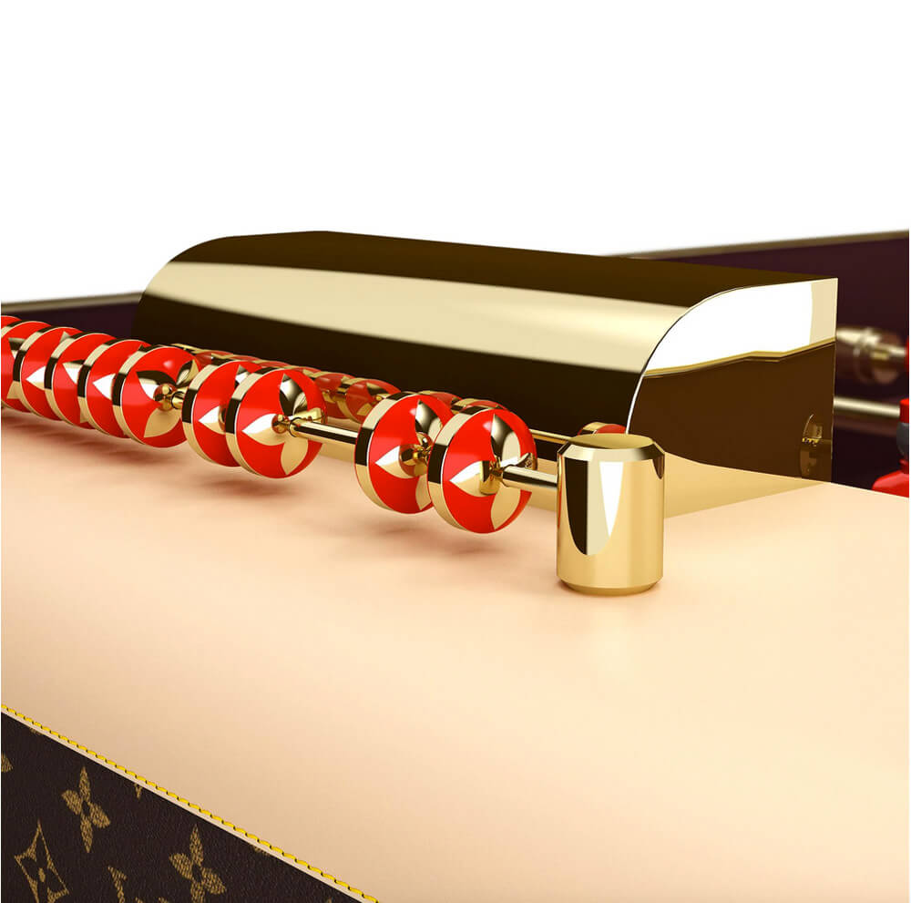 Louis Vuitton's flower enamel score counters