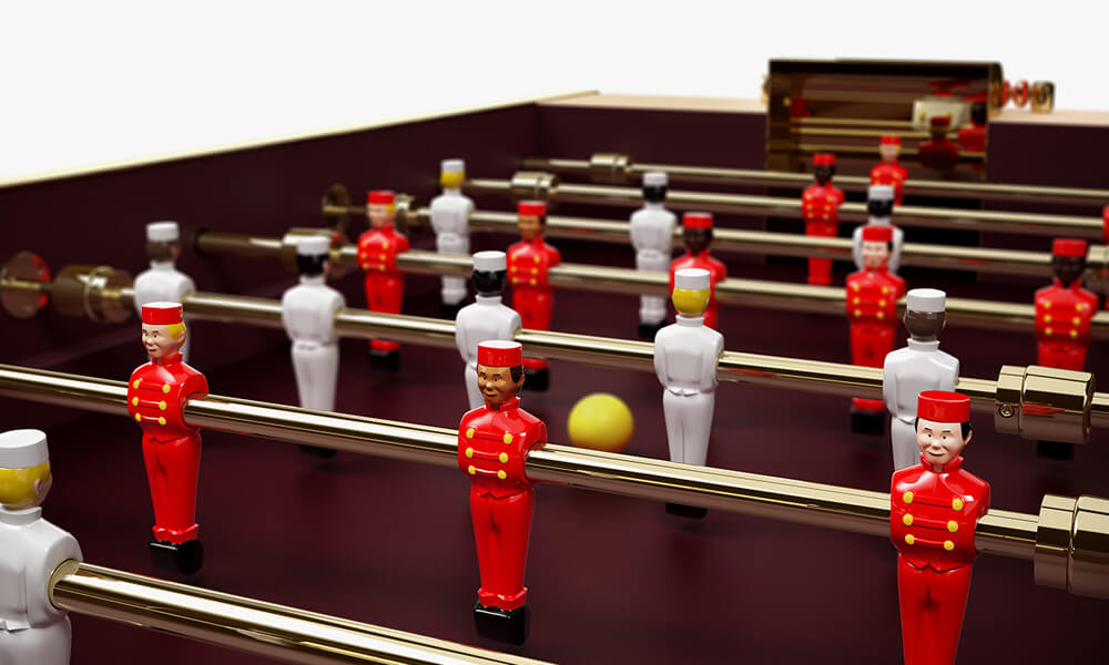 Louis Vuitton Babyfoot Foosball Table Players
