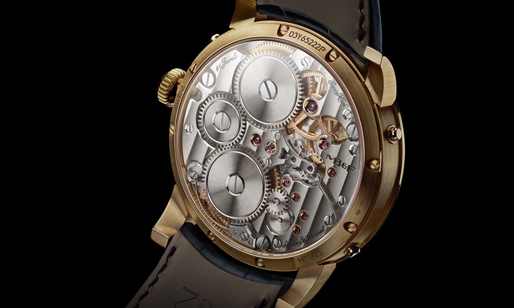 MB&F LM Perpetual limited edition 18 carat yellow gold case back