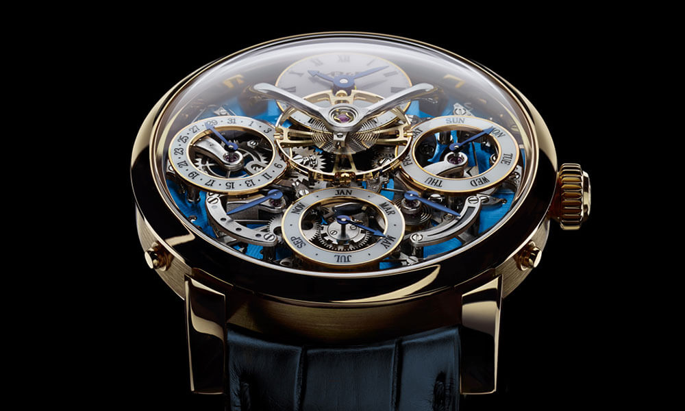 MB&F LM Perpetual limited edition yellow gold close up