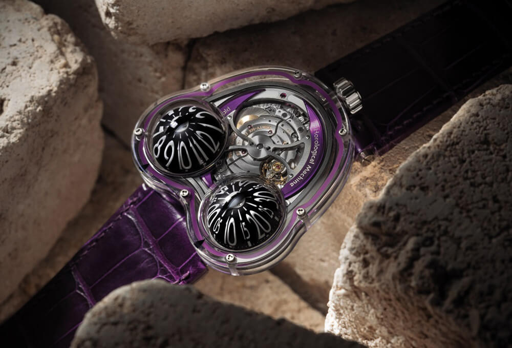 "The amphibious ""horological machine"" in Purple. Credit: MB&F"