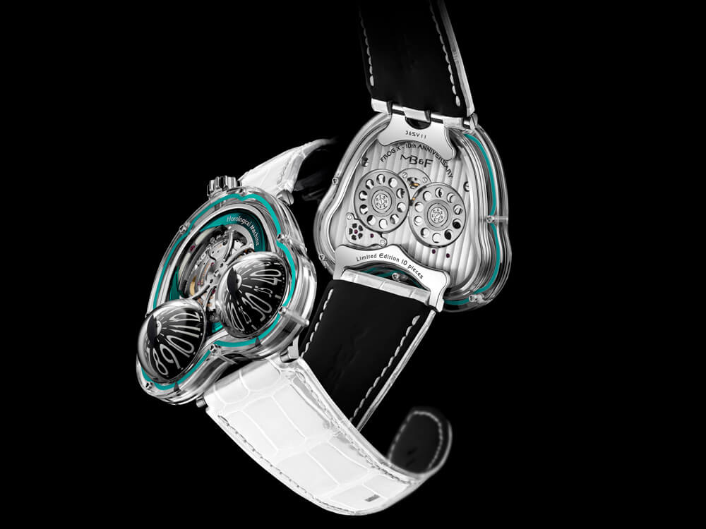 MB&F Frog X Turquoise 10th Anniversary Front Back