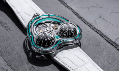 MB&F Frog X Turquoise 10th Anniversary Front