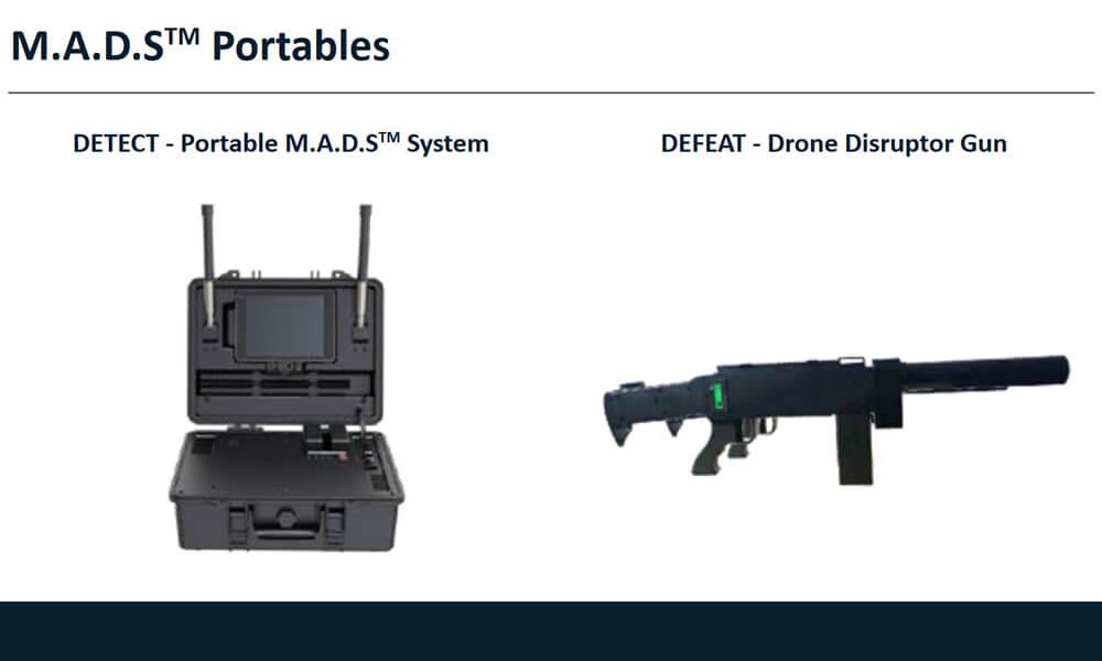 Martek marine anti drone system portables