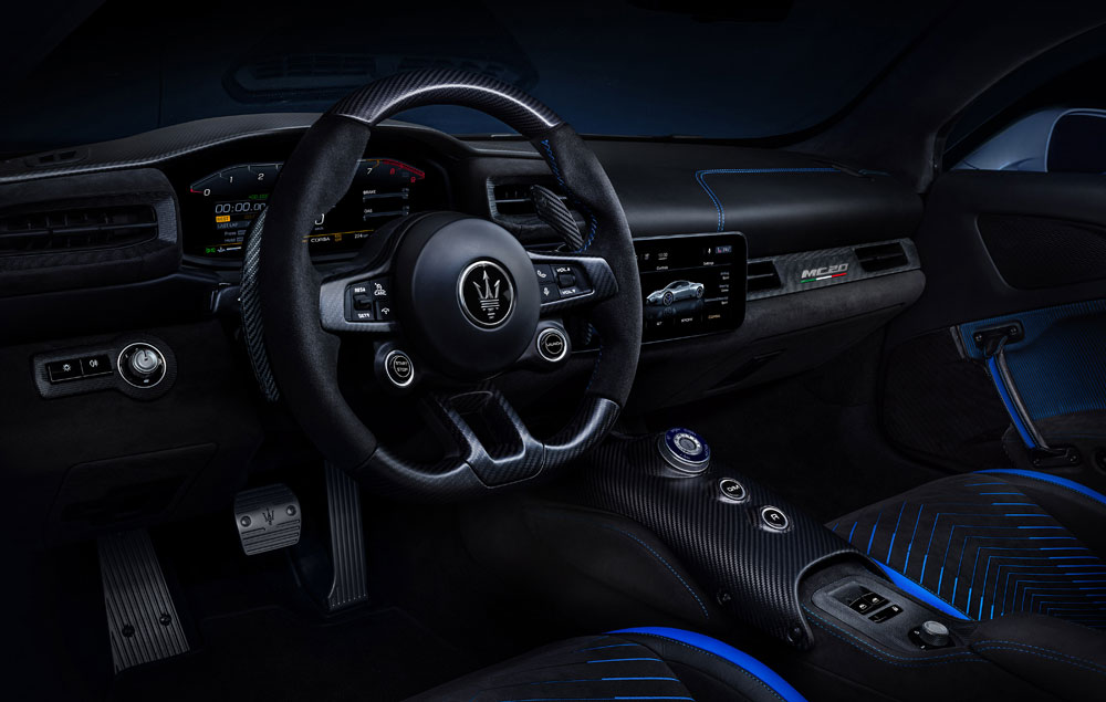 Maserati MC20 Supercar Front Seat Interior View