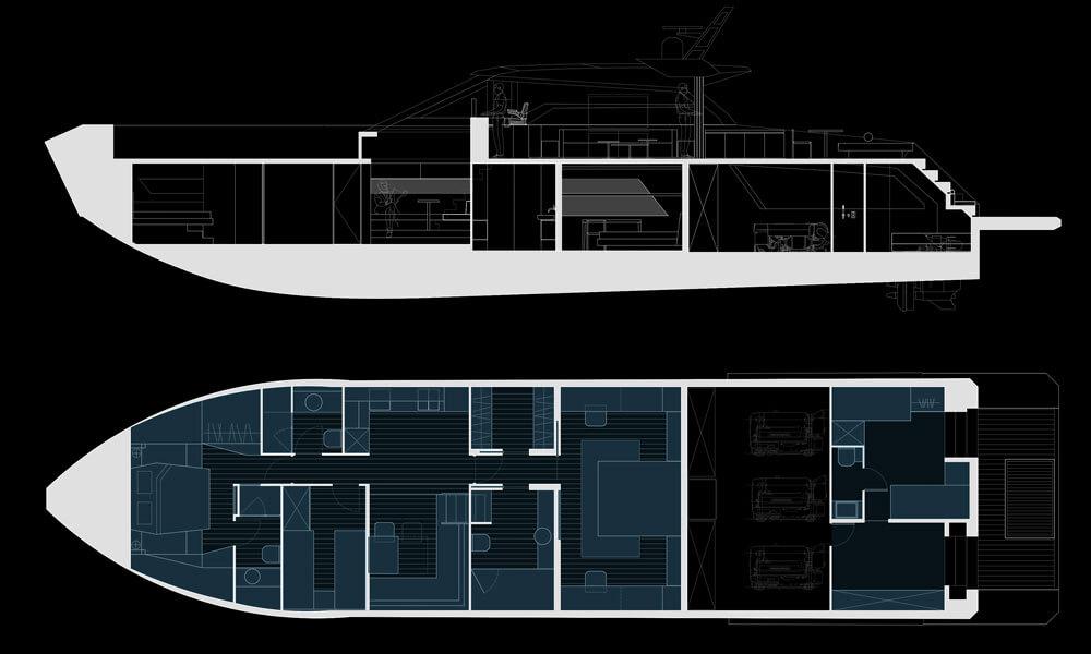 Mazu Yachts Mazu 82 GA layout floorplan