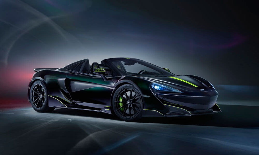 McLaren 600LT Spider Segestria Borealis by MSO Front View