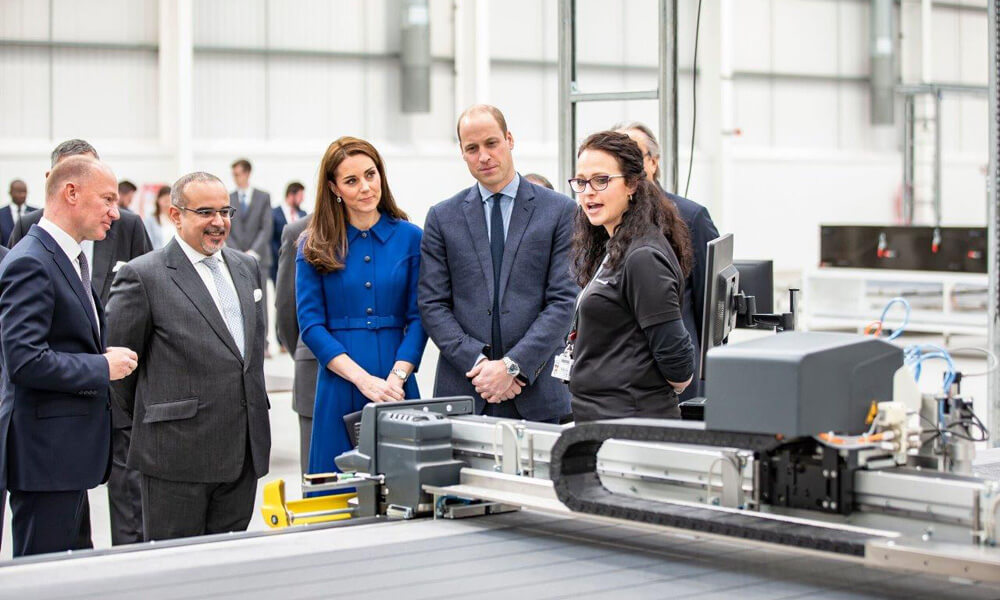 A Royal visit in 2019 to view the latest technological advancements.