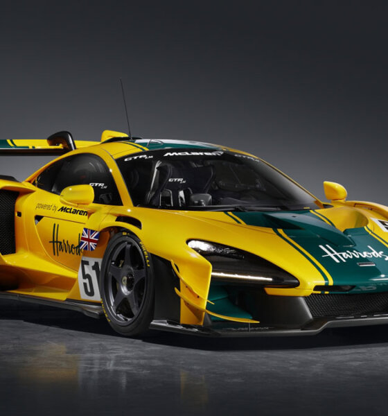Mclaren Senna GTR LM 825 Harrods Car Front Side View