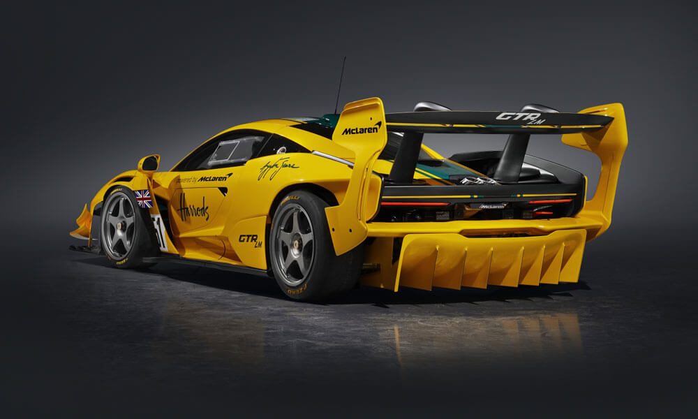 "Inspired by the 1995 F1 GTR ""Harrods Car"". Credit: McLaren Automotive"