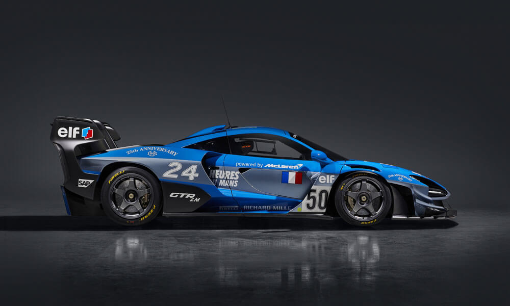 French themed livery in Le Mans Blue. Credit: McLaren Automotive