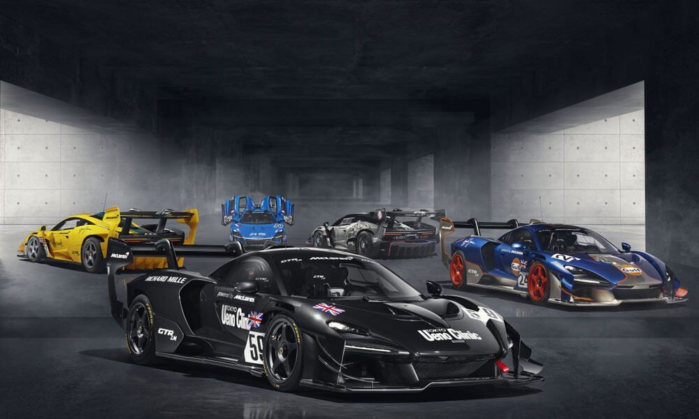 Five unique McLaren Senna GTR LM cars by MSO. Credit: McLaren Automotive