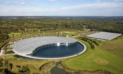 The McLaren Technology Center in Woking, Surrey